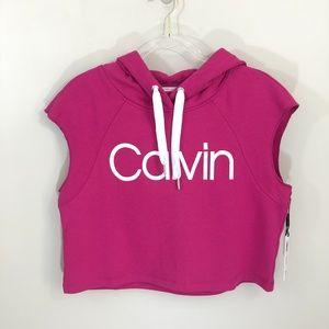Calvin Klein Performance Cropped Hoodie M NWT